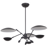 Craftmade 44323-FB-LED Pavilion LED 30 inch Flat Black Chandelier Ceiling Light