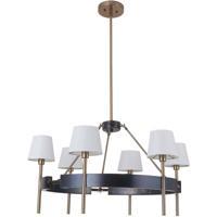 Craftmade 44426-FSSB Parker 6 Light 34 inch Fired Steel and Satin Brass Chandelier Ceiling Light