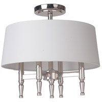 Ella 4 Light 18 inch Polished Nickel Semi Flush Mount Ceiling Light