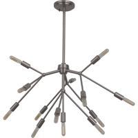 Craftmade 44713-BNK Aspen 13 Light 28 inch Brushed Polished Nickel Chandelier Ceiling Light
