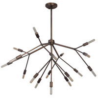Aspen 17 Light 38 inch Patina Aged Brass Chandelier Ceiling Light