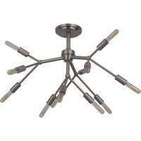 Craftmade 44752-BNK Aspen 12 Light 25 inch Brushed Polished Nickel Semi Flush Ceiling Light