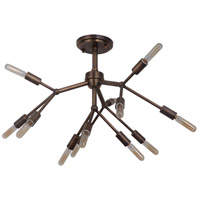 Aspen 12 Light 25 inch Patina Aged Brass Semi-Flushmount Ceiling Light