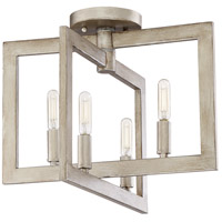 Portrait 4 Light 15 inch Gold Twilight Semi Flush Mount Ceiling Light