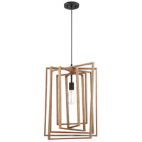Craftmade 45093-ESP Cube 1 Light 17 inch Espresso Pendant Ceiling Light