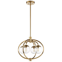 Piltz 4 Light 22 inch Satin Brass Chandelier Ceiling Light