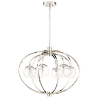 Craftmade 45526-PLN Piltz 6 Light 30 inch Polished Nickel Chandelier Ceiling Light