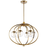 Craftmade 45526-SB Piltz 6 Light 30 inch Satin Brass Chandelier Ceiling Light