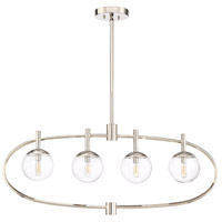 Craftmade 45574-PLN Piltz 4 Light 40 inch Polished Nickel Island Light Ceiling Light
