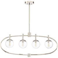 Craftmade 45574-PLN Piltz 4 Light 40 inch Polished Nickel Island Light Ceiling Light