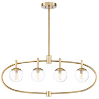 Craftmade 45574-SB Piltz 4 Light 40 inch Satin Brass Island Light Ceiling Light