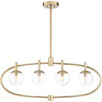 Craftmade 45574-SB Piltz 4 Light 40 inch Satin Brass Island Light Ceiling Light