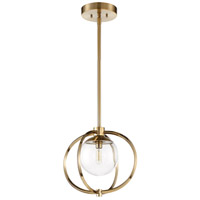 Craftmade 45591-SB Piltz 1 Light 15 inch Satin Brass Mini Pendant Ceiling Light