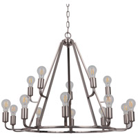 Arc 15 Light 35 inch Polished Nickel Chandelier Ceiling Light