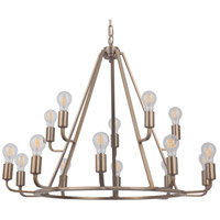 Craftmade 45915-SB Arc 15 Light 35 inch Satin Brass Chandelier Ceiling Light