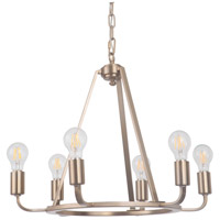 Craftmade 45926-SB Arc 6 Light 23 inch Satin Brass Chandelier Ceiling Light