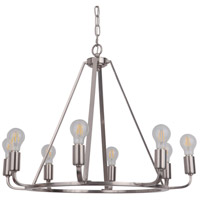 Craftmade 45928-PLN Arc 8 Light 28 inch Polished Nickel Chandelier Ceiling Light