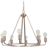 Arc 8 Light 28 inch Satin Brass Chandelier Ceiling Light