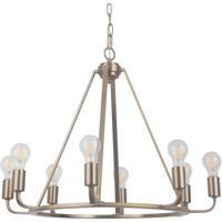 Craftmade 45928-SB Arc 8 Light 28 inch Satin Brass Chandelier Ceiling Light