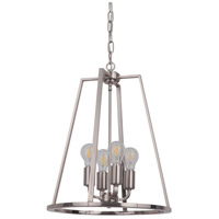 Craftmade 45934-PLN Arc 4 Light 16 inch Polished Nickel Foyer Light Ceiling Light
