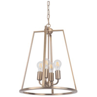 Craftmade 45934-SB Arc 4 Light 16 inch Satin Brass Foyer Light Ceiling Light