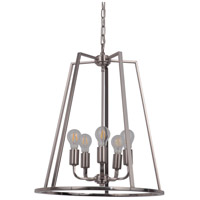Arc 5 Light 20 inch Polished Nickel Foyer Light Ceiling Light