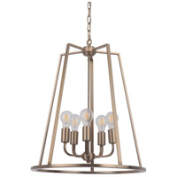 Craftmade 45935-SB Arc 5 Light 20 inch Satin Brass Foyer Light Ceiling Light