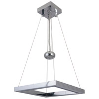 Craftmade 46131-CH-LED Balance LED 20 inch Chrome Adjustable Pendant Ceiling Light Square