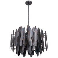 Forjado 6 Light 28 inch Fired Steel Pendant Ceiling Light