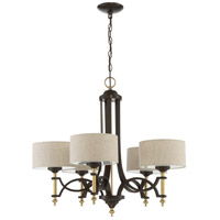 Craftmade 46325-ANGBZ Colonial 5 Light 29 inch Antique Gold and Bronze Chandelier Ceiling Light