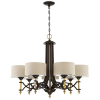 Colonial 7 Light 32 inch Antique Gold and Bronze Chandelier Ceiling Light