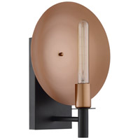 Craftmade 46561-MBKSCP Candela 1 Light 5 inch Matte Black and Satin Copper Wall Sconce Wall Light