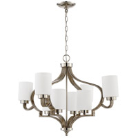 Craftmade 46728-PLNWF Jasmine 8 Light 30 inch Polished Nickel and Weathered Fir Chandelier Ceiling Light