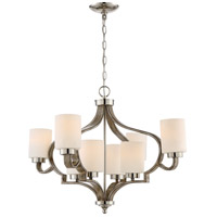 Craftmade 46728-PLNWF Jasmine 8 Light 30 inch Polished Nickel and Weathered Fir Chandelier Ceiling Light alternative photo thumbnail