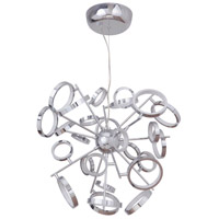 Mira LED 28 inch Chrome Adjustable Chandelier Ceiling Light