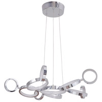 Craftmade 47191-CH-LED Mira LED 28 inch Chrome Adjustable Chandelier Ceiling Light