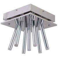 Lexi LED 11 inch Chrome Flush Mount Ceiling Light