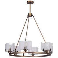 Craftmade 47626-PAB Trouvaille 6 Light 30 inch Patina Aged Brass Chandelier Ceiling Light