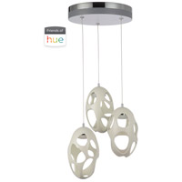 Craftmade 47993-W-HUE Ovale LED 14 inch White Pendant Ceiling Light in Hue