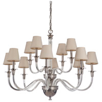 Craftmade 48012-PLN Deran 12 Light 39 inch Polished Nickel Chandelier Ceiling Light, Gallery Collection