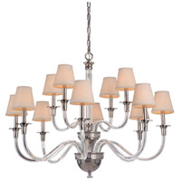 Craftmade 48012-PLN Deran 12 Light 39 inch Polished Nickel Chandelier Ceiling Light, Gallery Collection alternative photo thumbnail