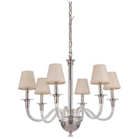 Craftmade 48026-PLN Deran 6 Light 30 inch Polished Nickel Chandelier Ceiling Light, Gallery Collection