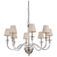 Craftmade 48028-PLN Deran 8 Light 34 inch Polished Nickel Chandelier Ceiling Light, Gallery Collection