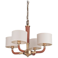 Huxley 4 Light 28 inch Vintage Brass Chandelier Ceiling Light, Gallery Collection