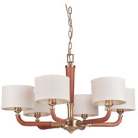 Craftmade 48126-VB Gallery Huxley 6 Light 35 inch Vintage Brass Chandelier Ceiling Light Gallery Collection