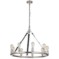 Craftmade 48129-PLN Huxley 9 Light 34 inch Polished Nickel Chandelier Ceiling Light