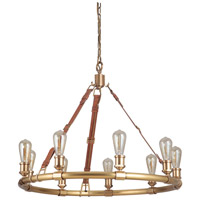 Craftmade 48129-VB Huxley 9 Light 34 inch Vintage Brass Chandelier Ceiling Light, Gallery Collection