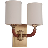 Craftmade 48162-VB Huxley 2 Light 13 inch Vintage Brass Wall Sconce Wall Light Gallery Collection