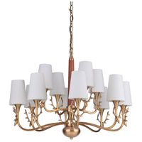 Craftmade 48212-VB Churchill 12 Light 34 inch Vintage Brass Chandelier Ceiling Light, Gallery Collection