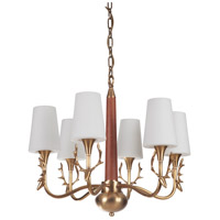 Craftmade 48226-VB Gallery Churchill 6 Light 26 inch Vintage Brass Chandelier Ceiling Light, Gallery Collection